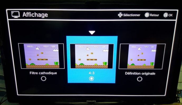 Différents filtre de la NES Mini