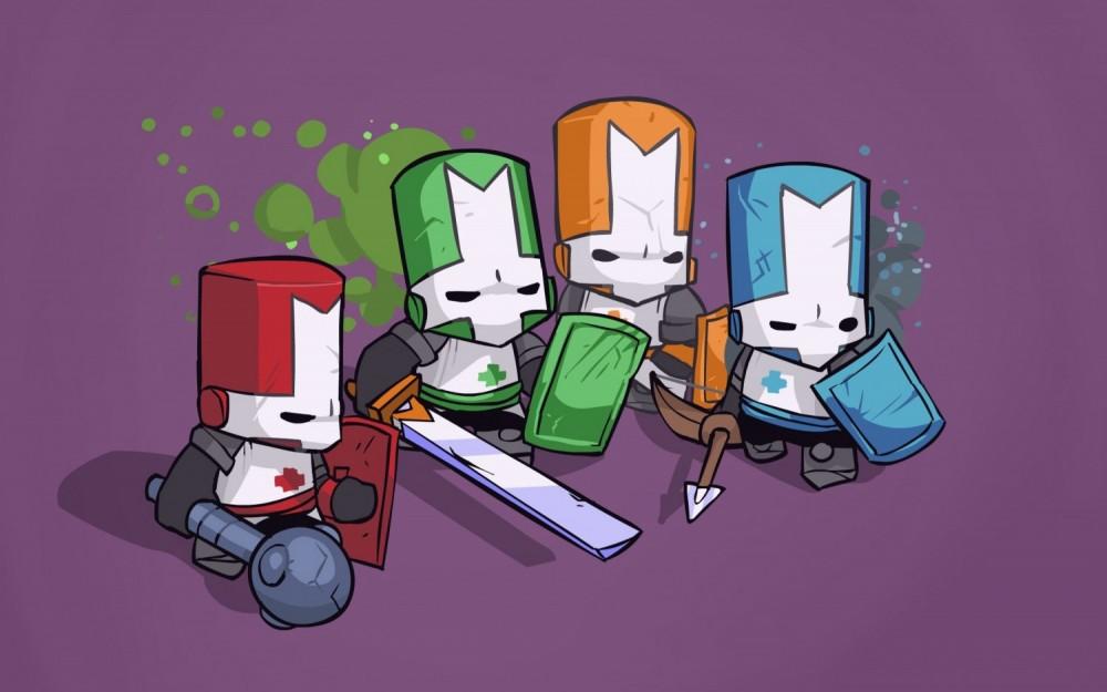 Castle Crashers Remastered quatre héros