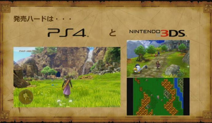Dragon Quest XI overview des versions ps4 et 3ds