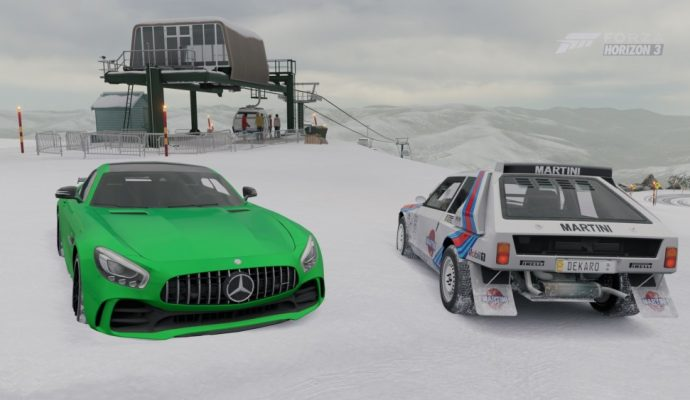 Lancia et Mercedes Forza Horizon 3 Blizzard Mountain