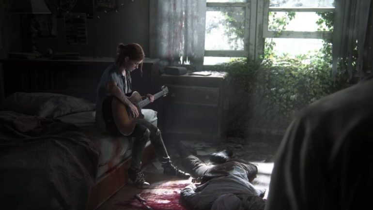 playstation 4 the last of us 2 guitare