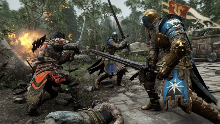 PlayStation Plus Les guerriers se battent dans For Honor