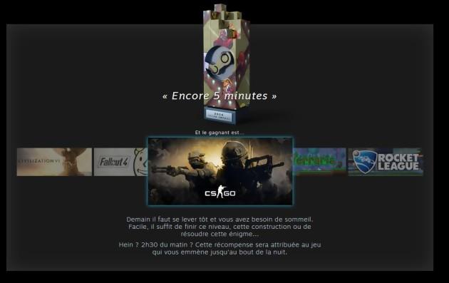 Le gagnant de la catégorie Encore 5 minutes : CS:GO (Steam Awards 2016)