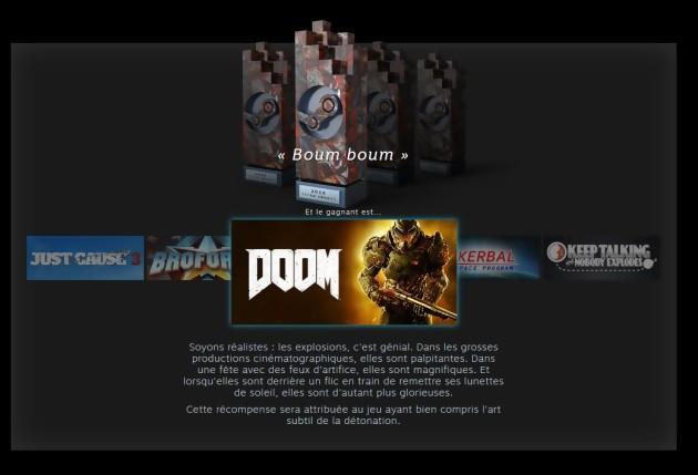 Steam Awards Boom, boom gagnant Doom