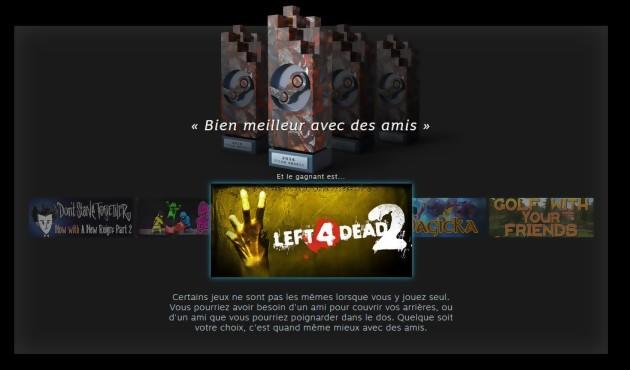Steam Awards 2016 dernier gagnant : Left 4 Dead !