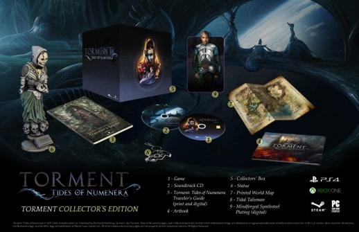 Torment: Tides of Numenera Edition Collector et contenu