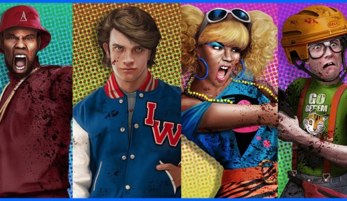 Personnages principaux de Zombies in Spaceland