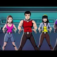 Power Rangers cinq héros