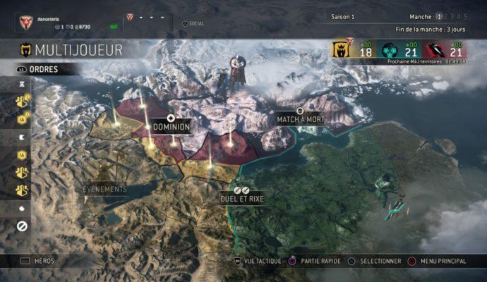 Test For Honor - Carte du monde