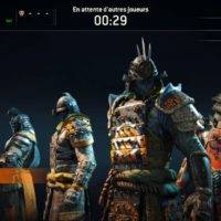 Test For Honor - Chargement d'une partie