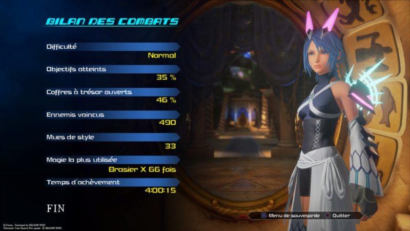 Test Kingdom Hearts HD 2.8 Final Chapter Prologue - Menu Aqua