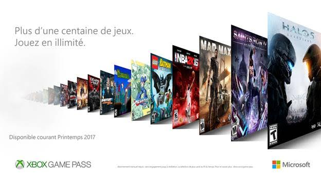 Microsoft annonce plus de 100 jeux au printemps 2017