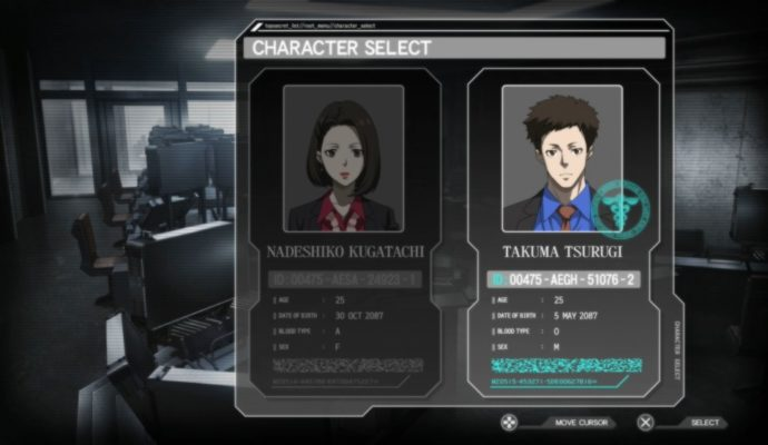 Psycho-Pass: Mandatory Happiness sélection personnages