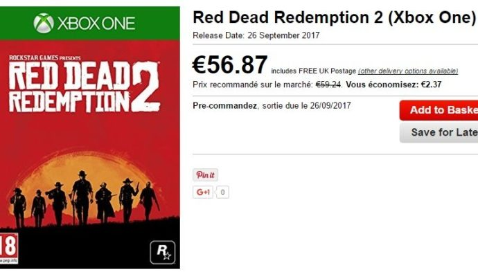 Red dead redemption 2 rumeur annonce site