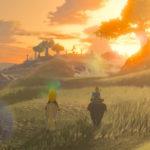 Breath of the Wild Link Zelda coucher de soleil