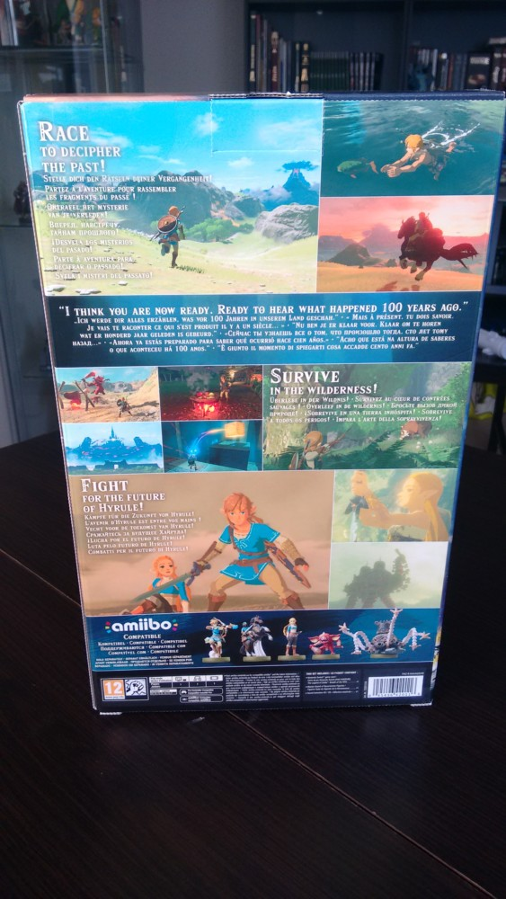 Breath of the Wild collector arrière