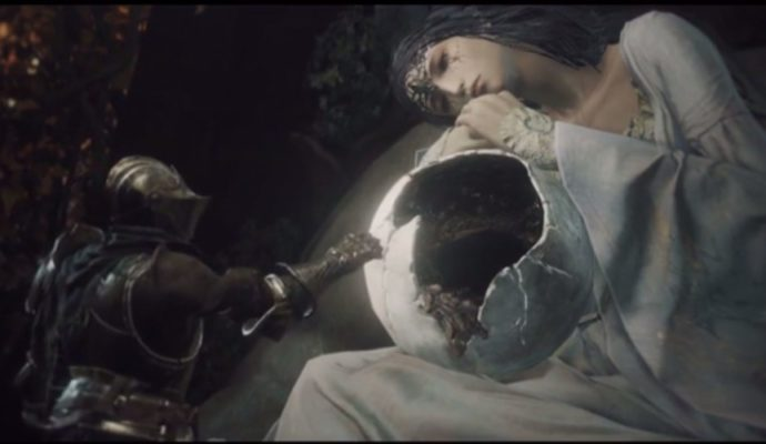 Dark Souls 3 The Ringed City protagoniste et jeune femme