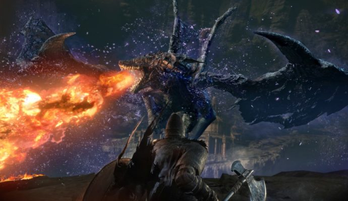 Dark Souls 3 The Ringed City dragon boss