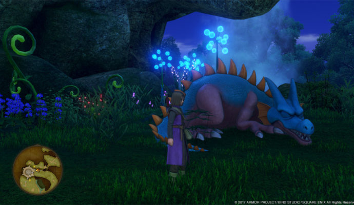 Dragon Quest XI scène nocturne.