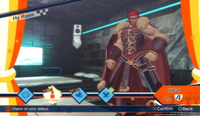 Fate/Extella : The Umbral Star my room