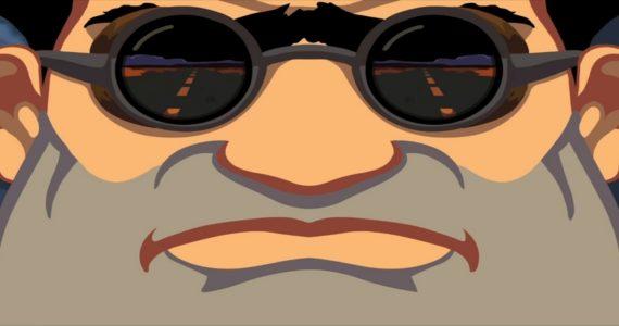 l'une des images du trailer de Full Throttle Remastered, montrant le protagoniste du jeu