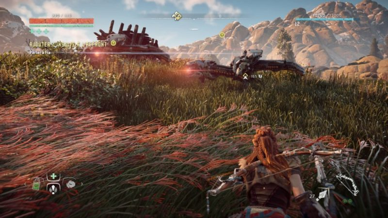 Horizon Zero Dawn Aloy furtive