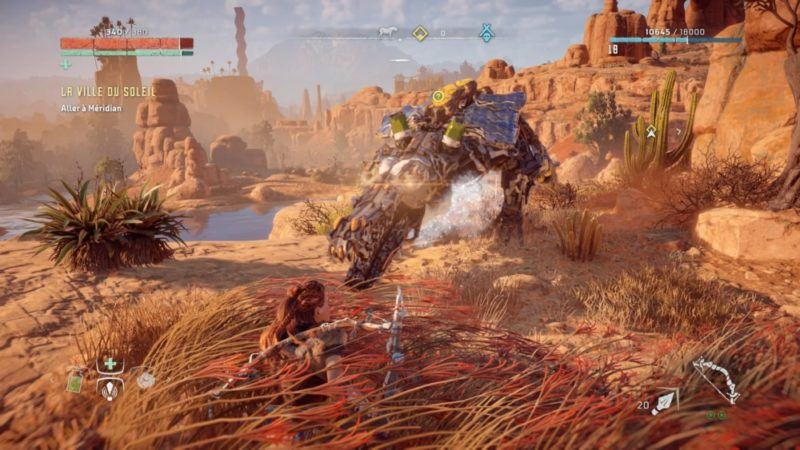 Horizon Zero Dawn Robot attaque Aloy