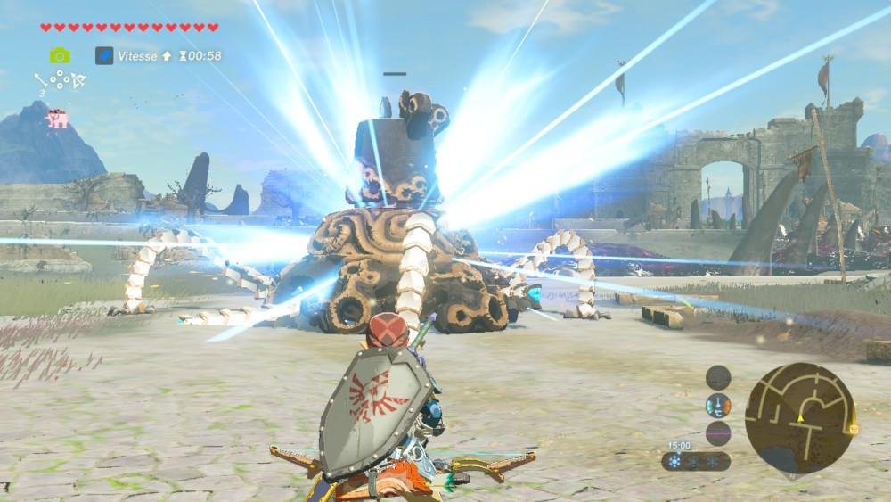 Link combat un gardien