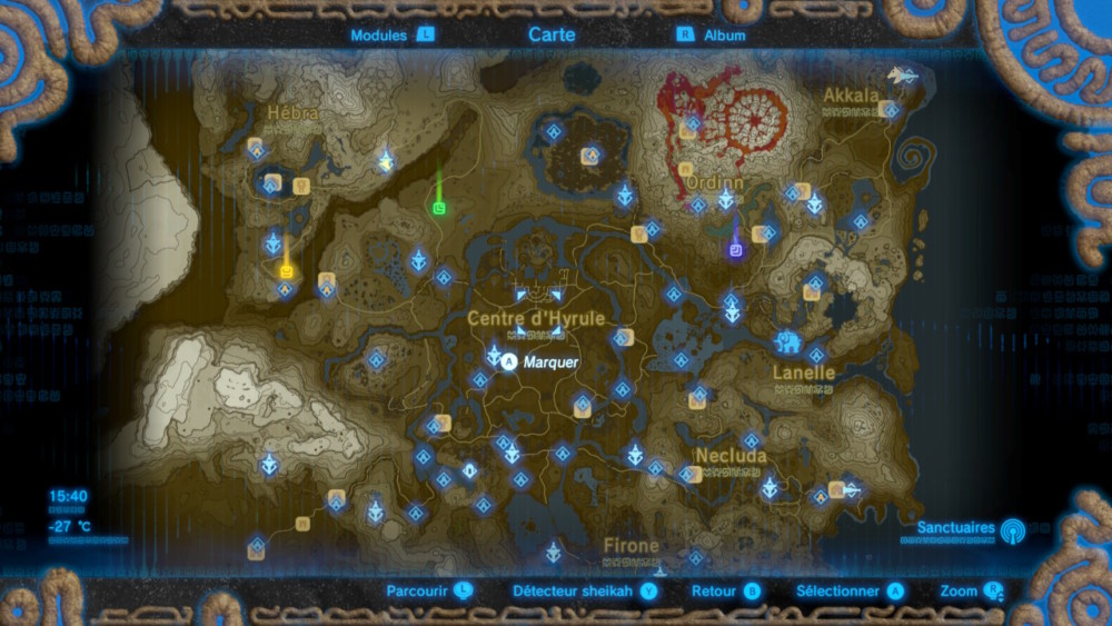 Breath of the Wild Map