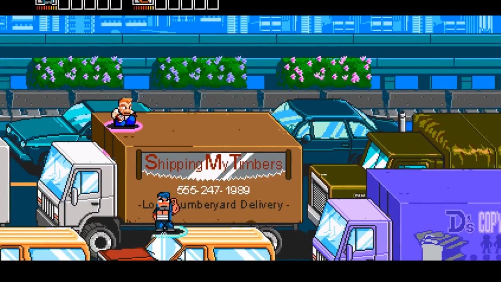 River City Ransom: Underground camions