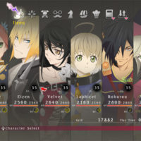 Tales of Berseria - Le menu