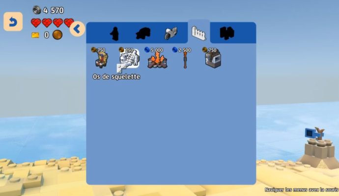 LEGO Worlds - inventaire