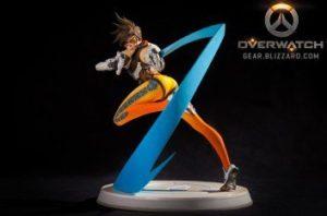 Statuette produit dérivé Tracer Bizzard Overwatch