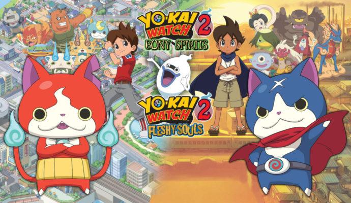 Yo-Kai Watch 2 Bony Spirits et Fleshy Souls Bouffis et Farceurs, les deux clans qui s'affrontent