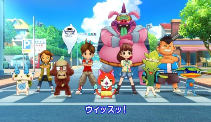Yo-Kai Watch 2 personnages alignés
