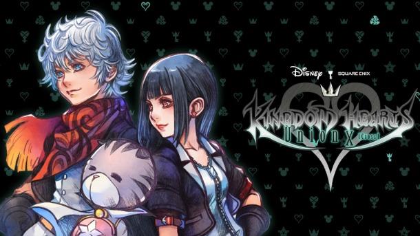 Une image de Kingdom Hearts Union X Cross avec trois protagonistes du jeu.