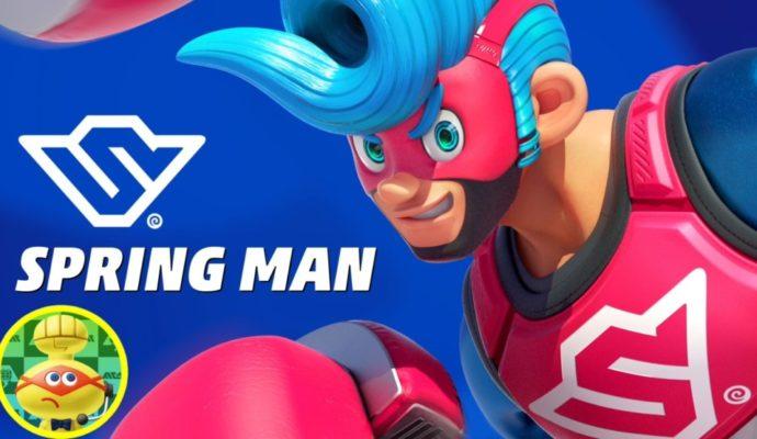 ARMS Spring Man présentation au Nintendo Direct d'avril 2017
