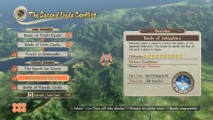 SAMURAI WARRIORS: Spirit of Sanada interface combat