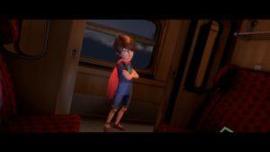 Blackwood Crossing Finn dans le train