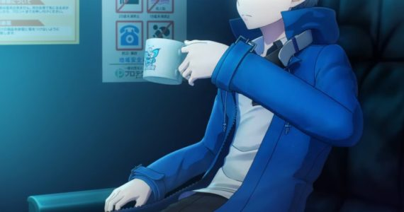 Digimon Story: Cyber Sleuth – Hacker's Memory Héros prenant un café