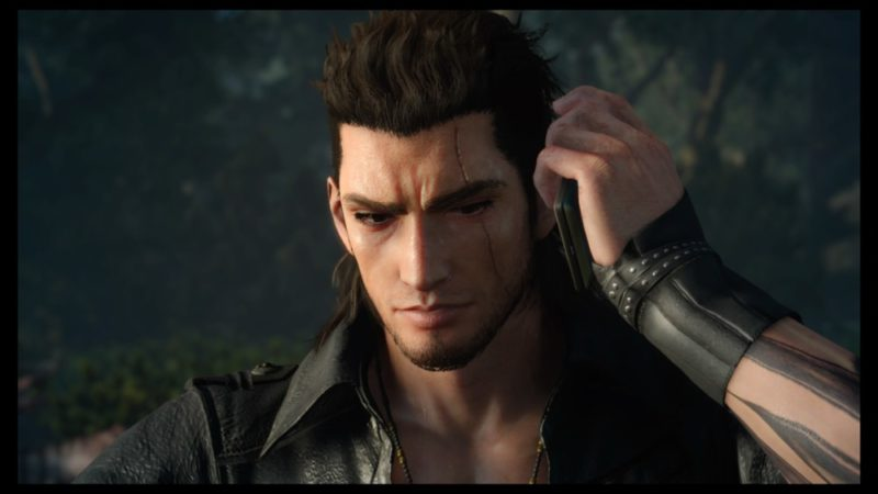 Final Fantasy XV : Épisode Gladiolus Gladiolus au téléphone