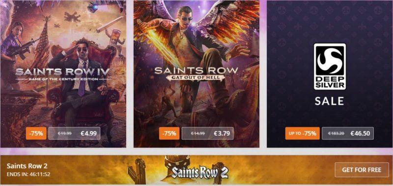 GOG Réductions DeepSilver Saints Row 2