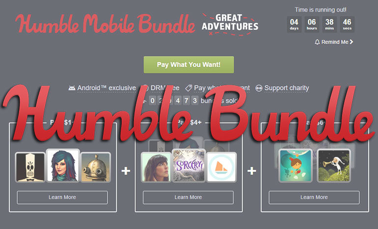 Humble Bundle Great Adventures Titre