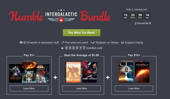 Humble Intergalactic Bundle jeux