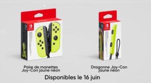 Nintendo Direct Nintendo Switch Joy-Con Jaune néon