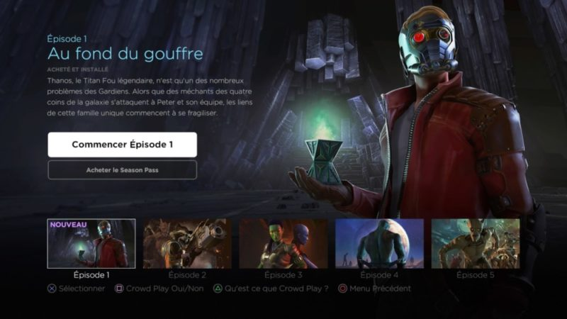 Marvel's Guardians of the Galaxy: The Telltale Series épisode 1 : au fond du gouffre