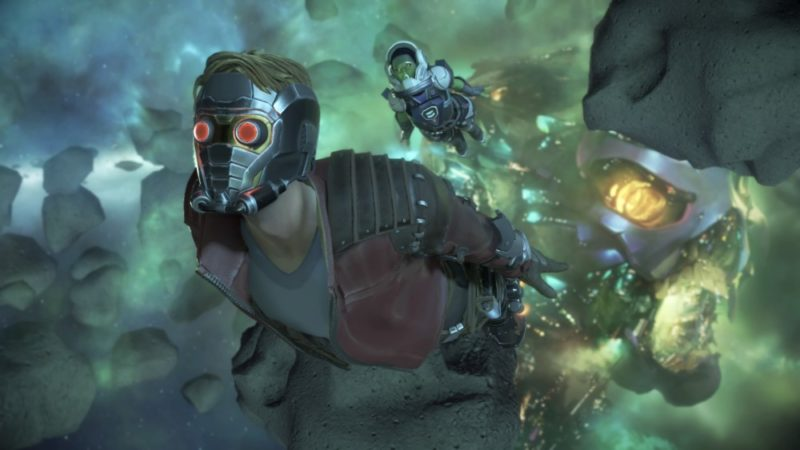 Marvel's Guardians of the Galaxy: The Telltale Series Gamora et Starlord dans l'espace