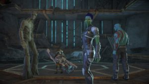 Marvel's Guardians of the Galaxy: The Telltale Series Groot Rocket Gamora et Drax