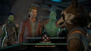 Marvel's Guardians of the Galaxy: The Telltale Series dialogue