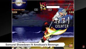 Nintend Direct Samurai Showdown IV sur Nintendo Switch